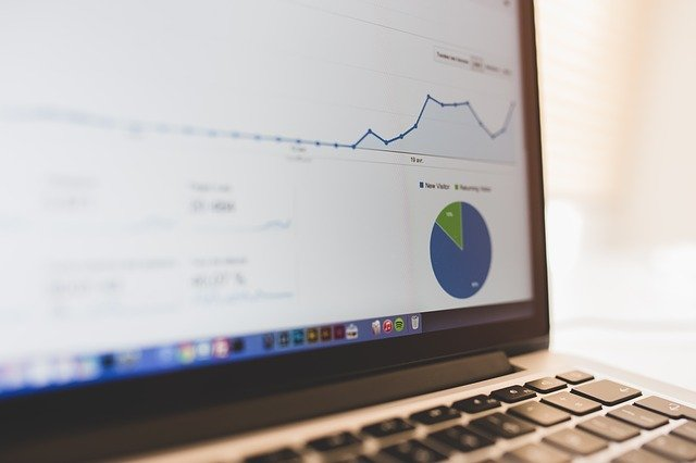 En computer viser Google Analytics